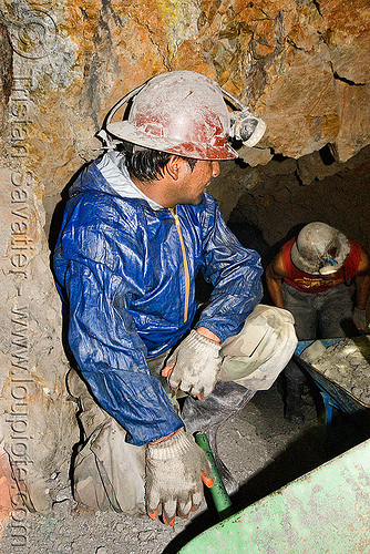 miners - potosi (bolivia), cerro rico, man, mina candelaria, mine worker, miner, mining, people, potosí, safety helmet, tunnel, working