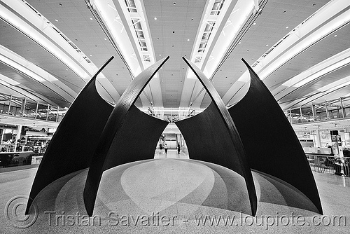modern steel sculpture - toronto pearson international airport (canada), airport, architecture, art, international terminal, metal, pearson, scrupture, steel, toronto, yyz