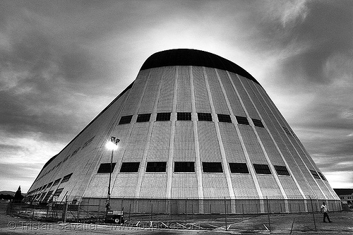 moffett field hangar one (mountain view, california), blimp, dirigible, hangar 1, nasa, nasa ames research center, yurisnight