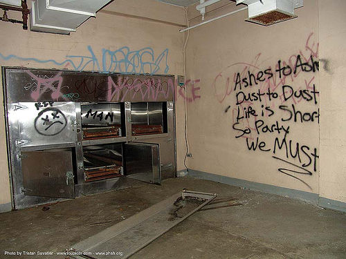 morgue freezer - graffiti - abandoned hospital (presidio, san francisco), abandoned building, abandoned hospital, decay, graffiti, morgue, presidio hospital, presidio landmark apartments, trespassing
