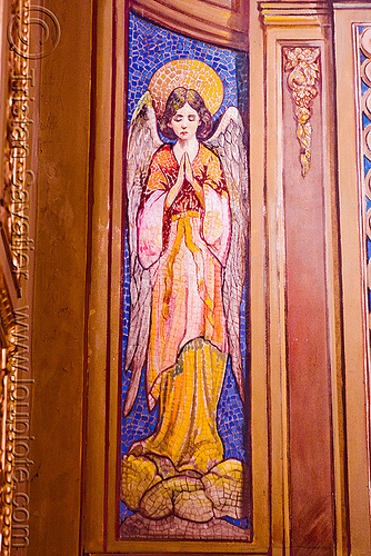 mosaic of an angel - cathedral (Córdoba, argentina), angel, argentina, cathedral, church, cordoba capital, córdoba capital, mosaic, noroeste argentino, praying, sacred art
