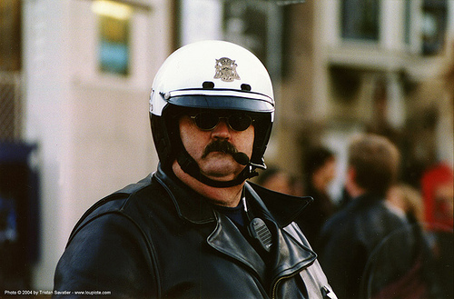 motorcycle cop - SFPD, helmet, law enforcement, man, motor cop, motor officer, motorcycle helmet, motorcycle police, people, police officer, police uniforms, san francisco police department, uniform, white