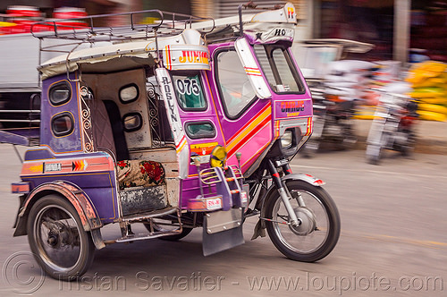 motorized tricycle (philippines), bontoc, colorful, motorcycle, motorized tricycle, philippines, sidecar