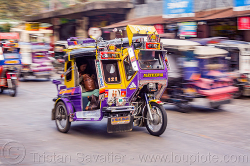 motorized tricycles (philippines), bontoc, colorful, motorcycles, motorized tricycle, passenger, philippines, sidecar, sitting