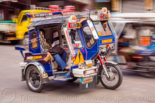 motorized tricycles - bontoc (philippines), bontoc, motorbikes, motorcycles, motorized tricycles, passenger, philippines, public transportation, sidecar, sitting, street, woman