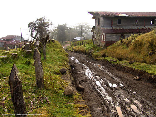 muddy road to turrialba volcano (costa rica), costa rica, dirt road, mud, muddy, turrialba, unpaved