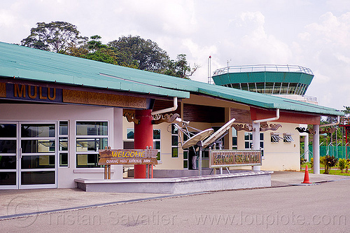 mulu airport, airport tower, building, gunung mulu national park, mulu airport, stol, tarmac