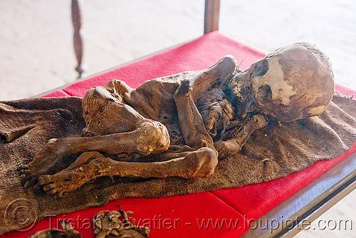 mummified child corpse, cadaver, casa de la moneda, casa nacional de moneda, child, corpse, dead, gruesome, human remains, macabre, morbid, mummified, mummy, potosí