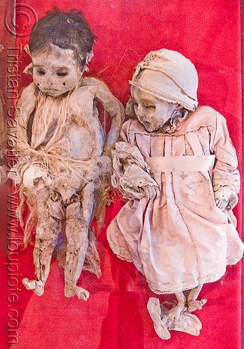 mummified corpses of children, cadaver, casa de la moneda, casa nacional de moneda, children, corpses, dead, gruesome, human remains, macabre, morbid, mummified, mummy, potosí