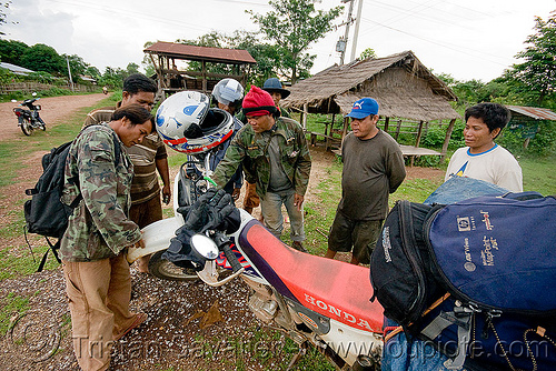 my honda XR 250 (laos), 250cc, dual-sport, full face helmet, honda motorcycle, honda xr 250, laos, men, motorcycle helmet, motorcycle touring, road
