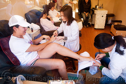 nail salon - beauty parlor (san francisco), asian woman, asian women, beauty parlor, girls, manicure, nail salon, pedicure