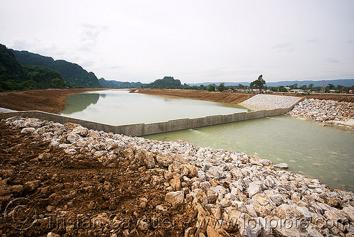 nam theun 2 hydroelectric project (laos) - downstream canal, construction, downstream canal, hydro-electric, nam theun 2 hydroelectric project, nam theun power company, ntpc