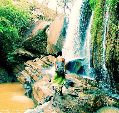 nam-tok-chat-trakan - thailand waterfall - anke-rega, anke rega, cross-processed, dxpro, falls, water, waterfall, woman, ประเทศไทย