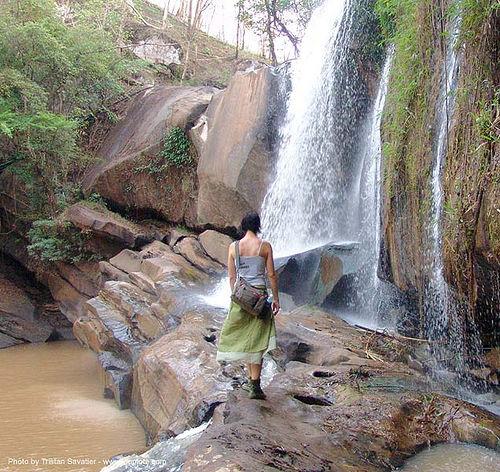 น้ำตกชาติตระการ - namtok chat trakan - pakrong waterfall - thailand, anke rega, falls, nam tok chat trakan, people, water, woman, น้ำตกชาติตระการ, ประเทศไทย