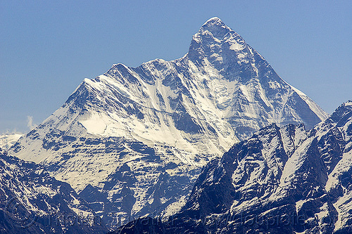 nanda devi summit (india), mountains, nanda devi, peak, snow, summit