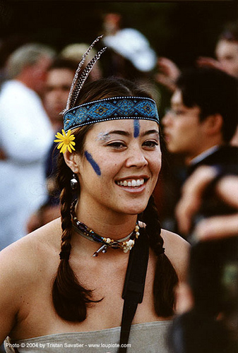 american indian woman, american indian, burning man, woman