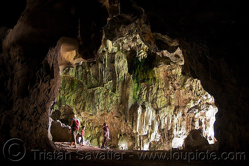 natural cave (laos), backlight, cave formations, caving, concretions, natural cave, speleothems, spelunking, stalactites, viang xai
