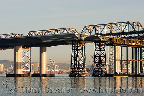 the new san francisco oakland bay bridge - construction (california), bridge construction, bridge pillars, caltrans, san francisco bay bridge, sf bay