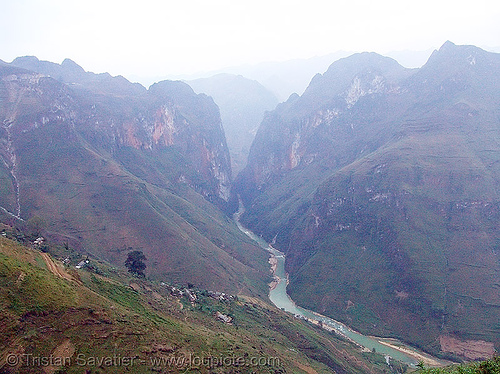 the nho quế river gorge is the site of a hydro electric project - vietnam, gorge, nho que river, nho quế river, valley