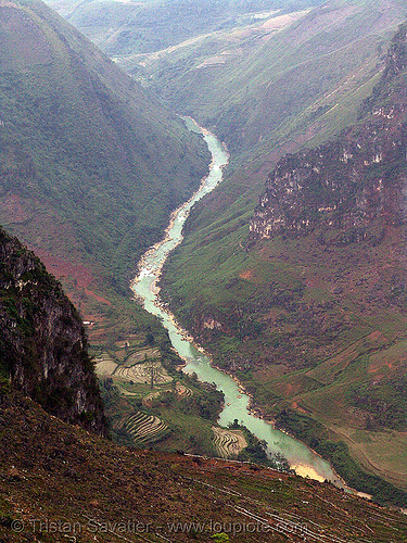 the nho quế river gorge - vietnam, nho que river, nho quế river, v-shaped valley, vietnam