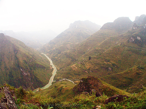 the nho quế valley - vietnam, nho que river, nho quế river, v-shaped valley, vietnam