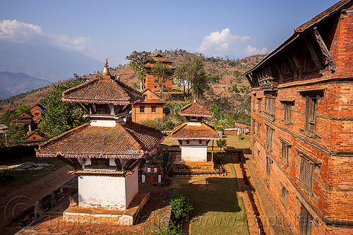 nuwakot - temples and palace (nepal), nuwakot durbar, saat taale durbar