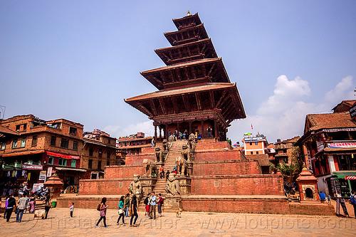 nyatapola temple - tachupal tole - bhaktapur (nepal), bhaktapur, hindu temple, hinduism, nyatapola temple, pyramid, stairs, steps, tachupal tole