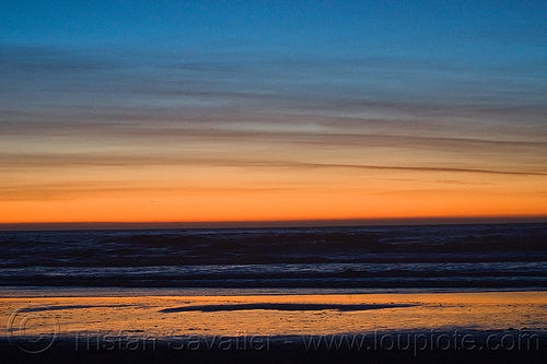 ocean beach sunset (san francisco), ocean beach, reflection, sea, seashore, shore, sunset, water