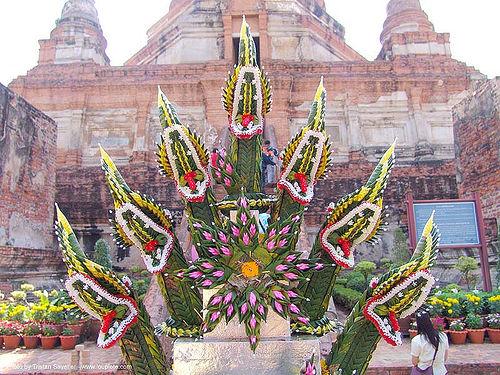 พระพุทธรูปปางนาคปรก - บายศรี - offerings - seven-headed snake - Nāga - thailand, buddhism, buddhist temple, naga snake, nāga, nāga dragon, nāga snake, seven-head, sukhothai, wat, บายศรี, ประเทศไทย, พญานาค, พระพุทธรูปปางนาคปรก, สุโขทัย, อุทยาน ประวัติศาสตร์ สุโขทัย, เมือง เก่า สุโขทัย