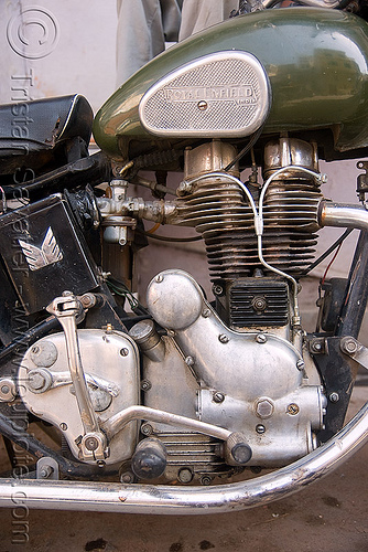 motorcycle engine, 350cc, engine, green, motorbike touring, motorcycle touring, road, royal enfield bullet, udaipur