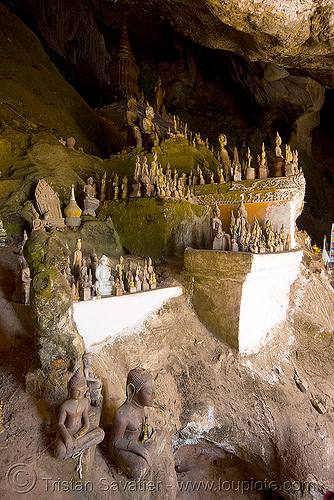 old damaged buddha statues - lower pak ou cave near luang prabang (laos), buddha images, buddha statues, buddhism, caving, damaged, lower pak ou cave, luang prabang, natural cave, old, pak ou caves temples, sculpture, spelunking, statue