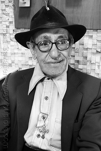 old man with hat, cross, eyeglasses, eyewear, hat, old man, pedro lopez-brito, pedro lópez-brito, prescription glasses, spectacles