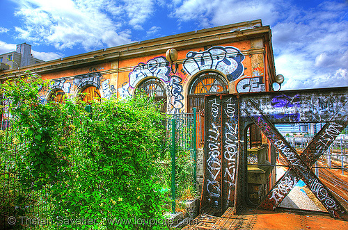 "the old ""massena"" train station - petite ceinture - abandoned train station (paris, france), abandoned, gare bd masséna, gare d'orléans-ceinture, gare massena, graffiti, paris, petite ceinture, train station, trespassing, urban exploration"