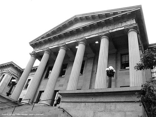 old mint - san francisco, architecture, building, columns, porch, san francisco old mint