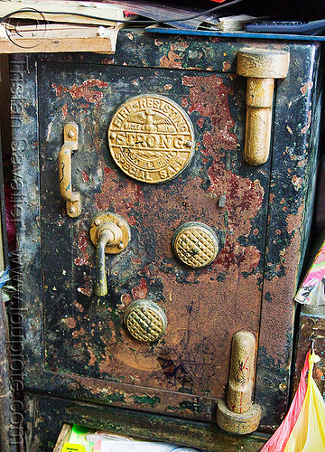old rusted eagle safe, antique, borneo, closed, eagle brand, fire resisting, kuching, malaysia, rusty, safe door, strong
