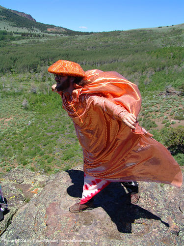 orange-man - rainbow gathering - hippie - peter, hat, hippie, man, orange color, peter doty, rainbow family, rainbow gathering
