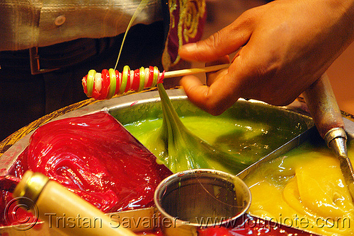 osmanlı macunu - macun, colorful, hand, macun, melted, osmanlı macunu, ottoman candy, rolled, rolling, stick, sugar, turkish