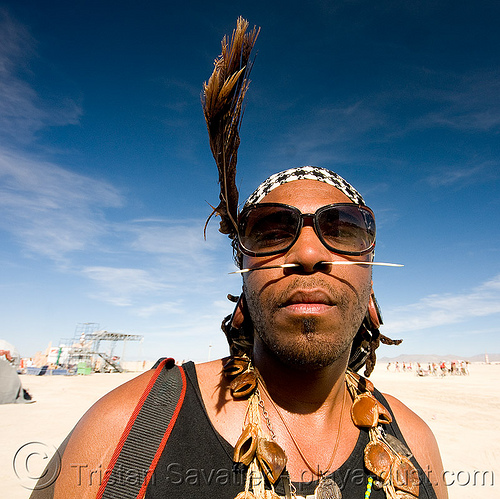 osunlade at burning man 2008, burner, burning man, osunlade, sunglasses, tribal