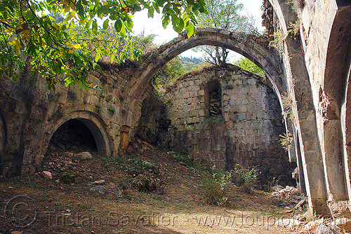 otkhta monastery - georgian church ruin (turkey), byzantine, dört kilise, georgian church, okhta ecclesia, orthodox christian, otkhta monastery, religion, ruins, vaults