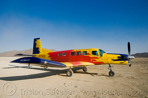 PAC 750XL, aircraft, burning man, burning sky, pac 750, pac 750xl, pacific aerospace corporation, parked, red, skydiving, small plane, turbo prop, yellow