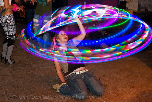 paige spinning a LED hula hoop, glowing, led hoop, led hula hoop, led lights, led-light, light hoop, paige