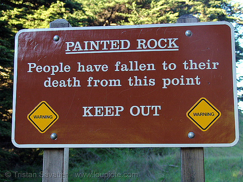 painted rock (san francisco), danger, death, painted rock, sign, warning