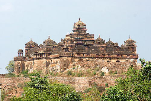 palace - datia (india), architecture, castle, datia, defensive wall, fort, fortifications, fortress, palace