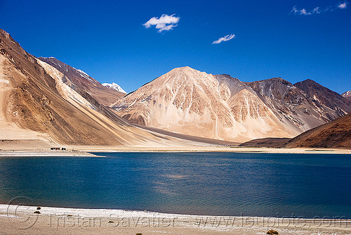 pangong lake - ladakh (kashmir, india), mountains, pangong tso, spangmik, water