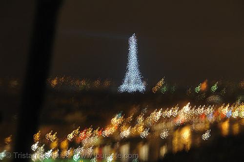 paris by night, abstract, eiffel tower, motion blur, night, paris