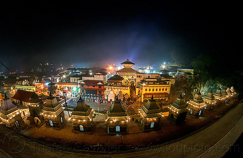 pashupatinath temple at night - kathmandu (nepal), festival, fisheye, hindu temple, hinduism, maha shivaratri, pashupati, shrines