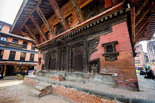 pashupatinath temple - bhaktapur durbar square (nepal), bhaktapur, carved, door, durbar square, hindu temple, hinduism, intricate, mesh, newar windows, wood carving, wooden