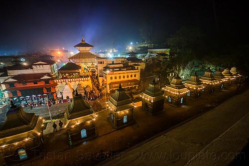 pashupatinath temple - kathmandu (nepal), festival, hindu temple, hinduism, kathmandu, maha shivaratri, night, pashupati, pashupatinath temple, shrines
