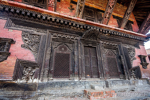 pashupatinath temple - newar windows - intricate wood carving (nepal), bhaktapur, carved, door, durbar square, hindu temple, hinduism, mesh, wooden