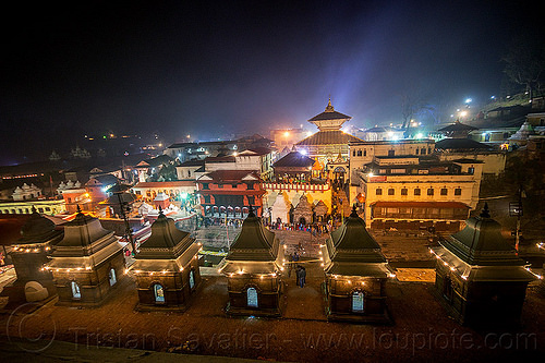 pashupatinath temple - shivaratri night - kathmandu (nepal), hindu temple, hinduism, kathmandu, maha shivaratri, night, pashupatinath temple, shrines